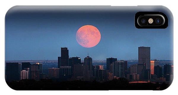 Blood Moon Over Denver IPhone Case