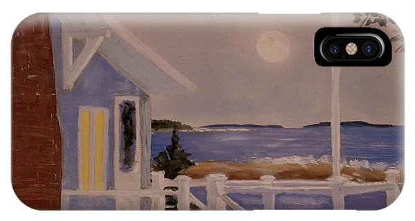 Blood Moon Over Muscongus Sound IPhone Case