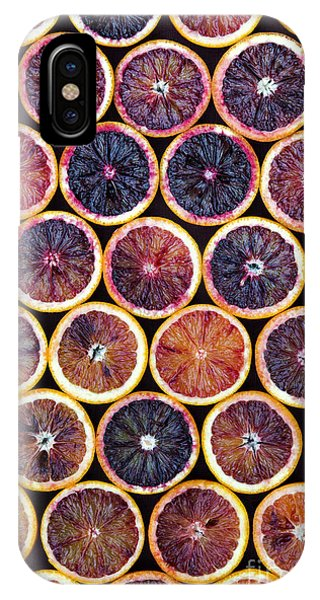 Red Fruit iPhone Case - Blood Oranges Pattern by Tim Gainey