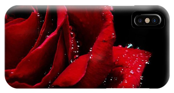 Blood Red Rose IPhone Case