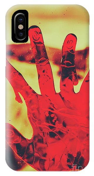Zombies iPhone Case - Bloody Halloween Palm Print by Jorgo Photography - Wall Art Gallery