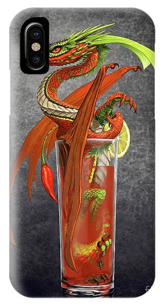 Bloody Mary iPhone Case - Bloody Mary Dragon by Stanley Morrison