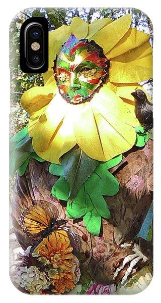 Bloomer Girl Scarecrow Close-up At Cheekwood Botanical Gardens IPhone Case