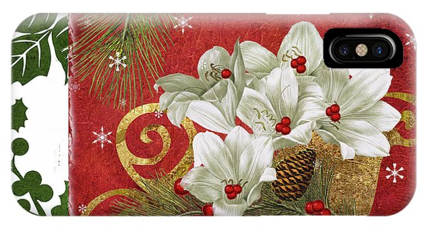 Amaryllis iPhone Case - Blooming Christmas II by Mindy Sommers