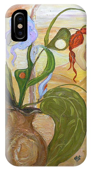 Blooming Orchids In The Vase IPhone Case