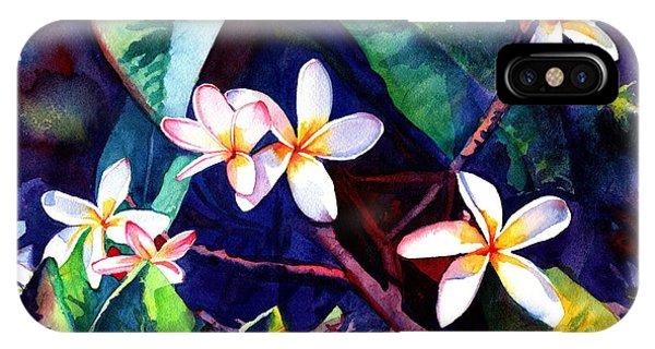 Blooming Plumeria IPhone Case