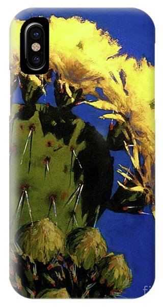 Blooming Prickly Pear IPhone Case