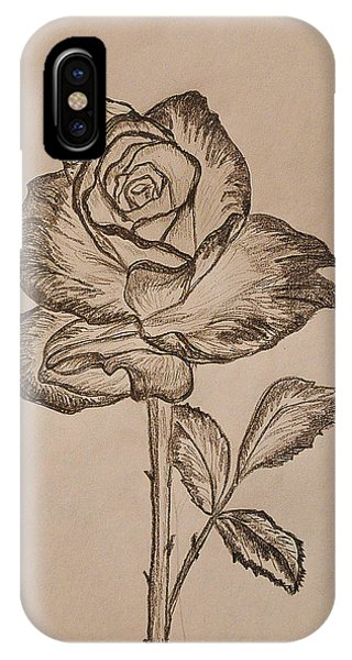 Close Up Floral iPhone Case - Blooming Rose by Felicia Tica