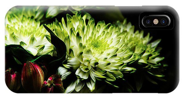 Blooming White Dahlia IPhone Case