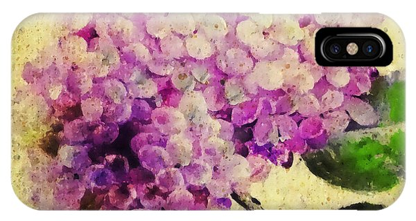 Close Up Floral iPhone Case - Blooming With Happiness - Hydrangea by Stacey Chiew