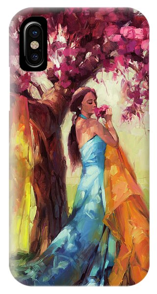 Blue Dress iPhone Case - Blossom by Steve Henderson