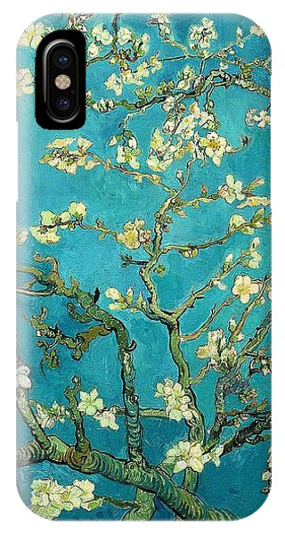 IPhone Case featuring the painting Blossoming Almond Tree by Van Gogh