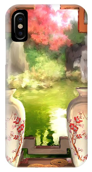 Blossoms And Vases  IPhone Case