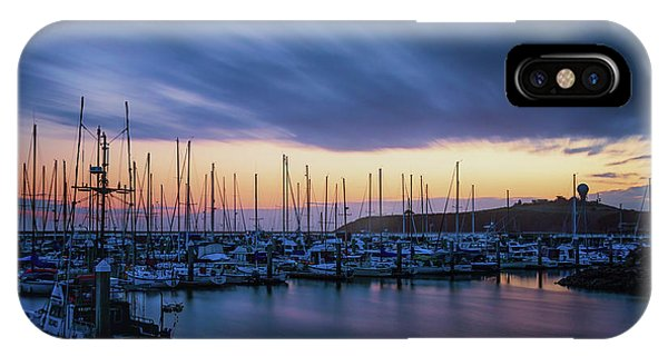 Half Moon Bay iPhone Case - Blowing Over by Marnie Patchett