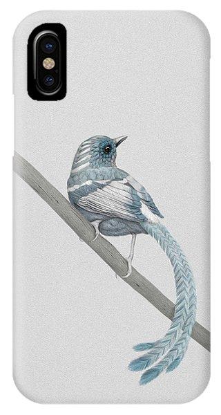 Bird iPhone Case - Blue 2 by Diego Fernandez