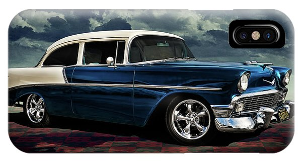 Chevrolet iPhone Case - Blue '56 by Douglas Pittman