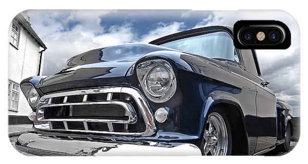 Blue 57 Stepside Chevy IPhone Case