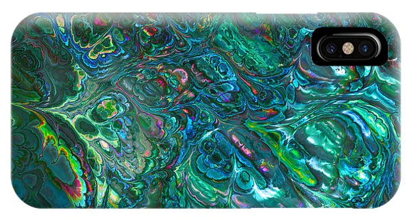 Blue Abalone Abstract IPhone Case