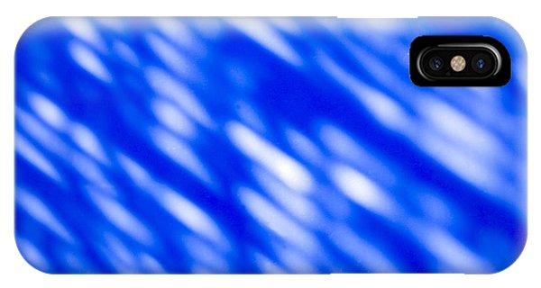 Visual Illusion iPhone Case - Blue Abstract 1 by Tony Cordoza