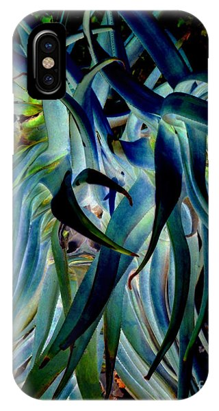 Blue Abstract Art Lorx IPhone Case