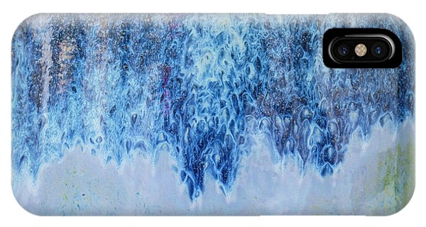 IPhone Case featuring the photograph Blue Abstract One by David Waldrop