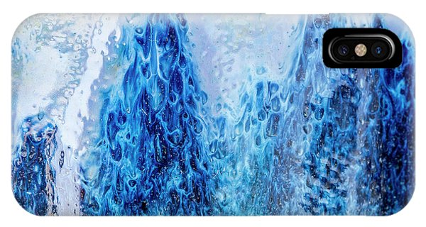 IPhone Case featuring the photograph Blue Abstract Two by David Waldrop