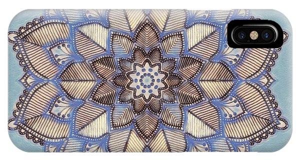 Blue And White Mandala IPhone Case