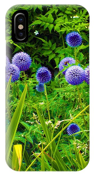 Blue Allium Flowers IPhone Case
