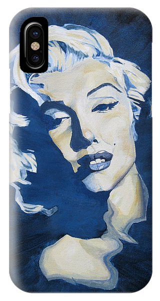 Blue And Gold Marilyn IPhone Case