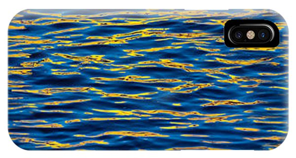 Chicago River iPhone Case - Blue And Gold by Steve Gadomski