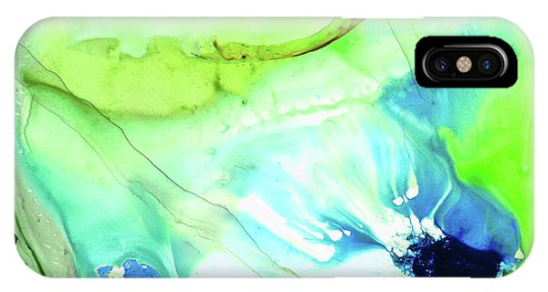 Earthy iPhone Case - Blue And Green Abstract - Land And Sea - Sharon Cummings by Sharon Cummings