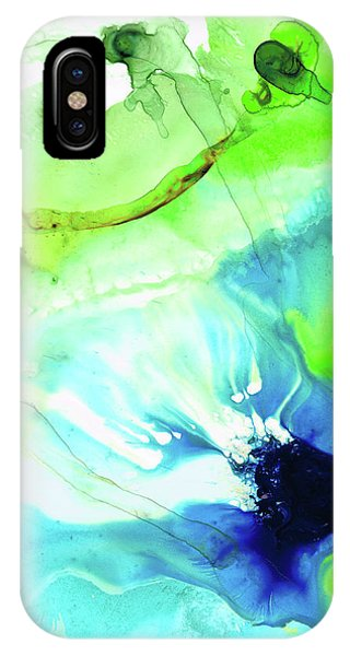 Blue And Green Abstract - Land And Sea - Sharon Cummings IPhone Case