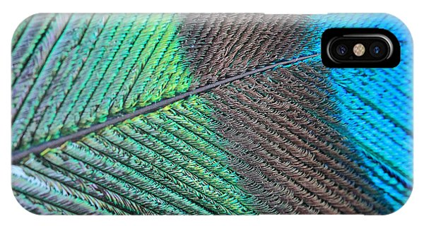 Blue And Green Feathers IPhone Case
