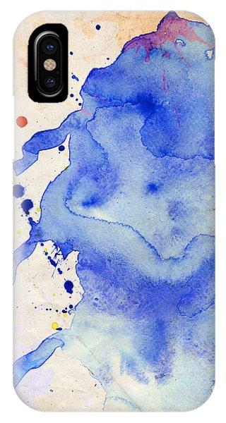 Blue And Orange Color Splash IPhone Case