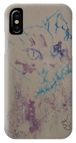 Blue And Purple Cat IPhone Case