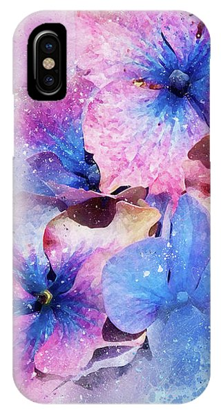 Blue And Purple Flowers IPhone Case
