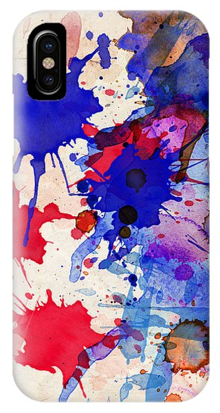 Blue And Red Color Splash IPhone Case