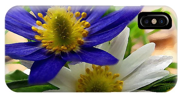 Blue And White Anemones IPhone Case