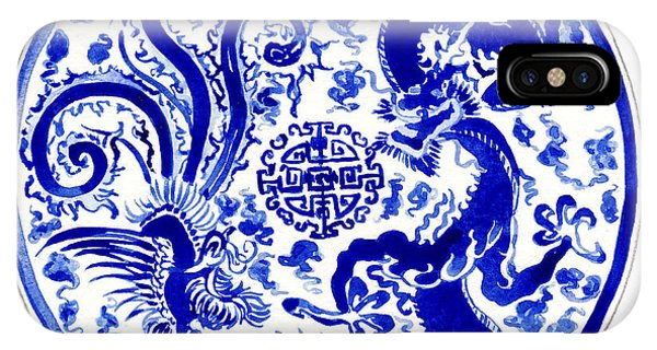 Forbidden City iPhone Case - Blue And White Chinese Chinoiserie Plate 3 by Laura Row