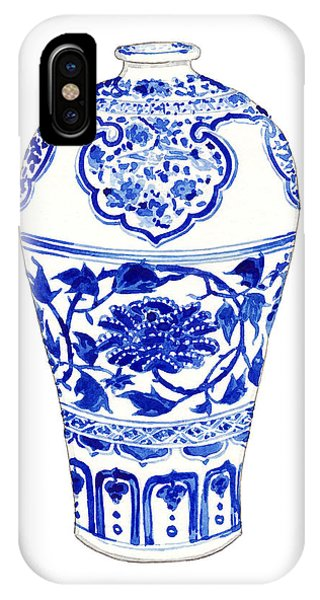 Cobalt Blue iPhone Case - Blue And White Ginger Jar Chinoiserie 3 by Laura Row