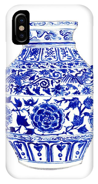 Cobalt Blue iPhone Case - Blue And White Ginger Jar Chinoiserie 4 by Laura Row