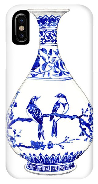 Forbidden City iPhone Case - Blue And White Ginger Jar Chinoiserie 7 by Laura Row