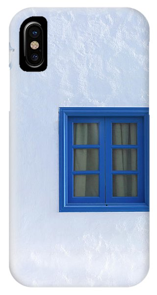Greece iPhone X Case - Blue And White by Joana Kruse