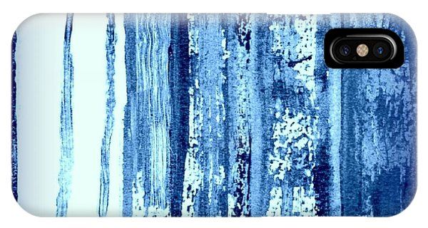 Blue And White Rainy Day IPhone Case
