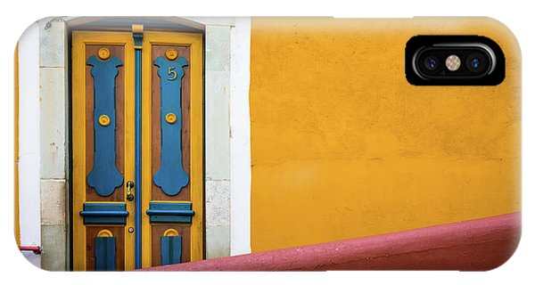 Guanajuato iPhone Case - Blue And Yellow Door by Inge Johnsson