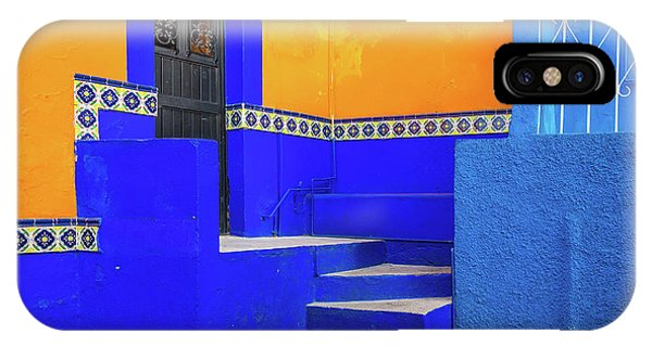 Guanajuato iPhone Case - Blue And Yellow House by Inge Johnsson