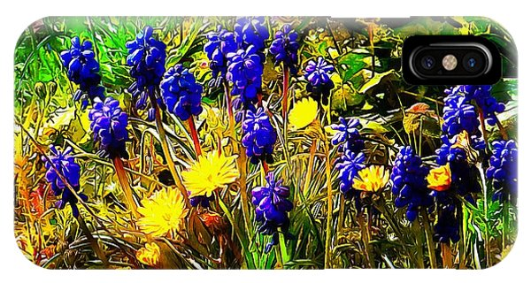 Blue And Yellow Wild Flower Medley IPhone Case