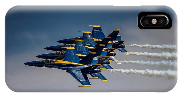Rockford iPhone Case - Blue Angels Fly By by Mike Burgquist