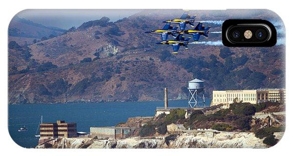 Blue Angels Over Alcatraz IPhone Case