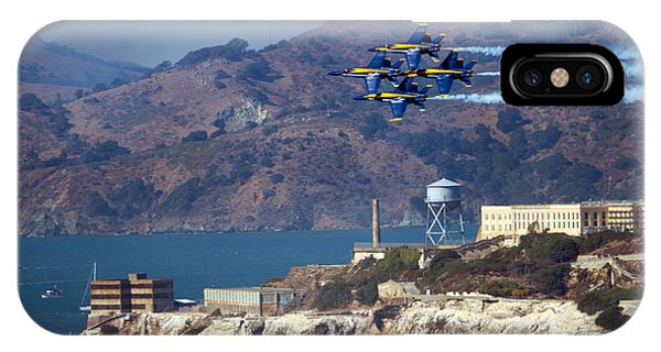 Blue Angels Over Alcatraz IPhone Case